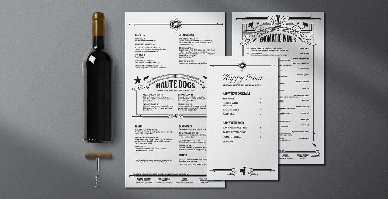 Black Sheep Menu Design
