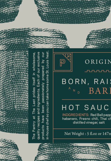 The Pantry Hot Sauce packaging detail