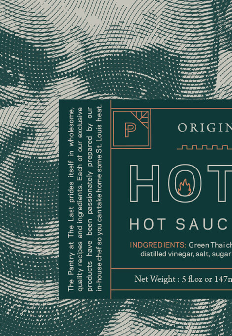 The Pantry Hot Head Hot Sauce label