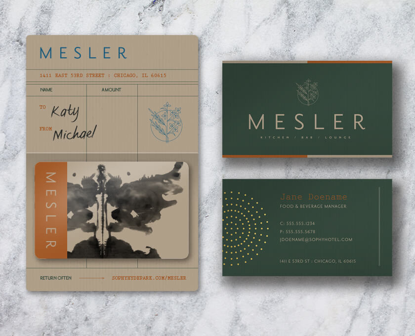 Mesler gift card design