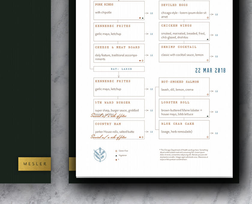 Mesler Kitchen Bar Lounge menu