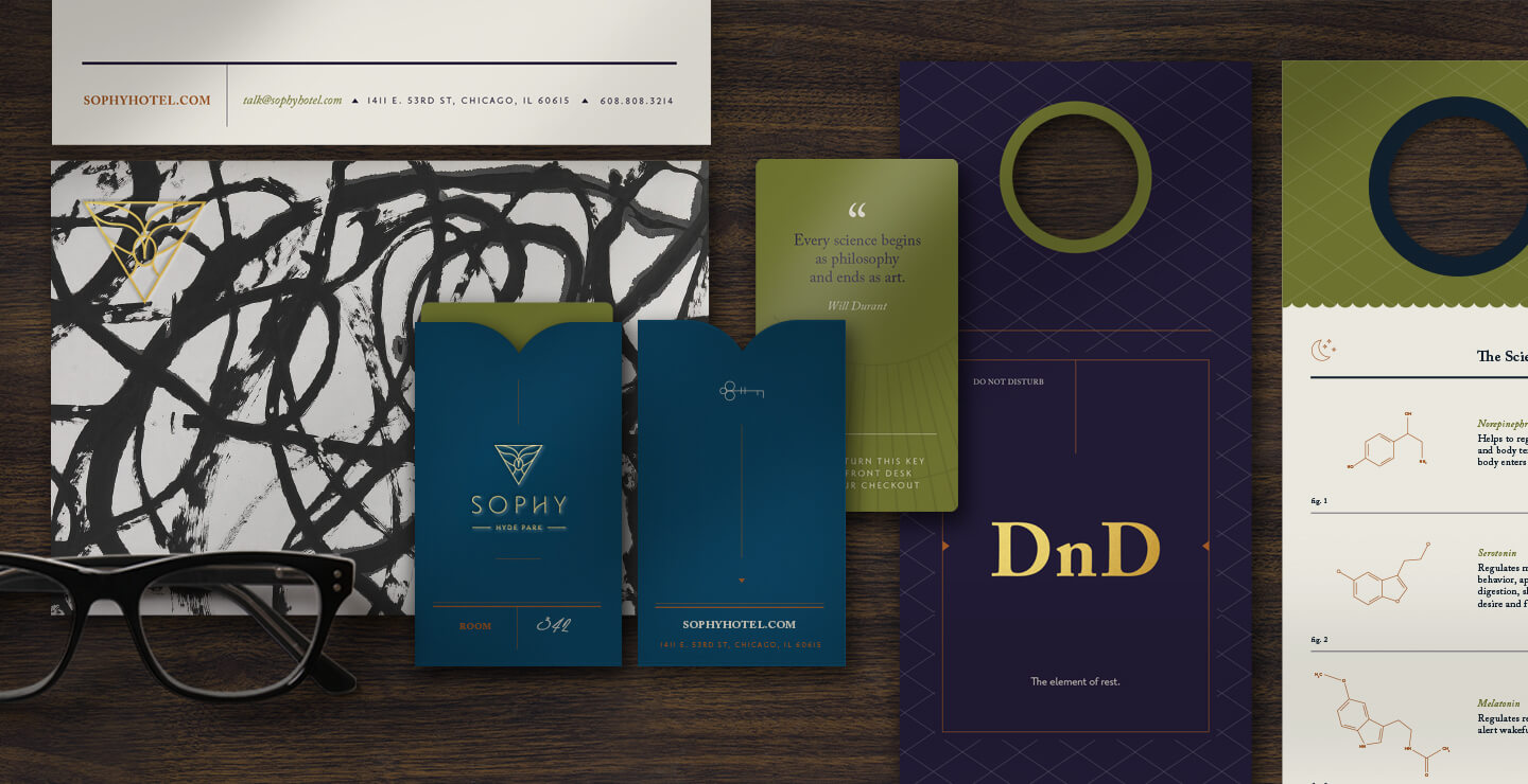 Sophy Hyde Park printed collateral
