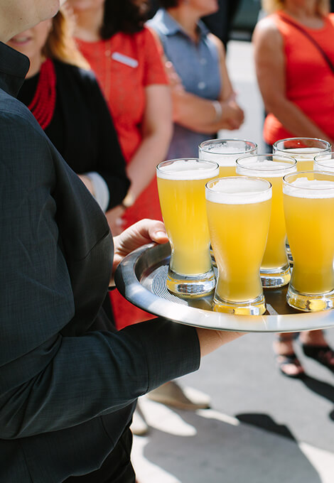 Third Space Brewing beer on tray