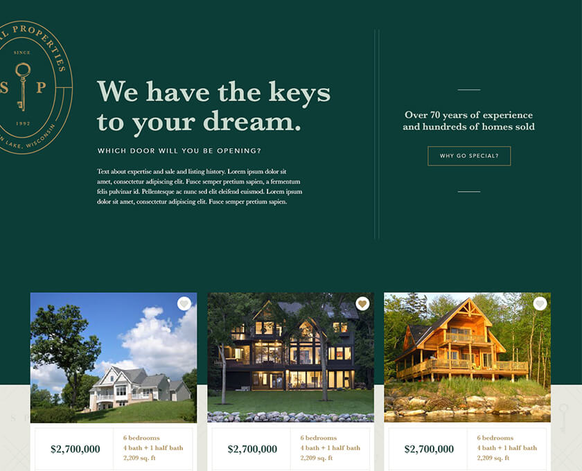 Special Properties Web Design